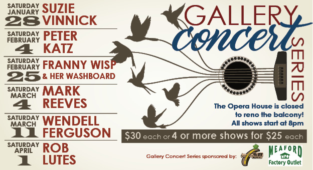 Meaford Hall Gallery concert poster
